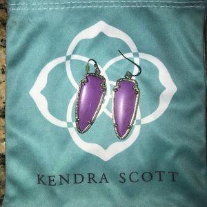 Purple Kendra Scott earrings